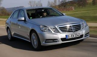 Mercedes E300 BlueTEC Hybrid front tracking