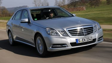 Mercedes E300 BlueTEC Hybrid front tracking