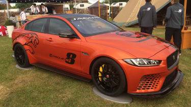 Jaguar XE SV Project 8 - red Goodwood front