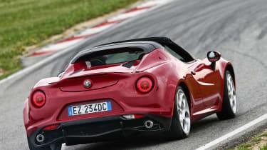Alfa Romeo 4C Spider rear action