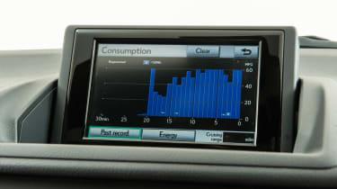 Used Lexus CT 200h - screen
