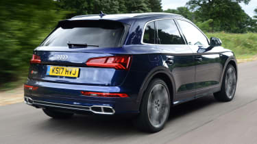 New Audi SQ5 2017 review UK - rear