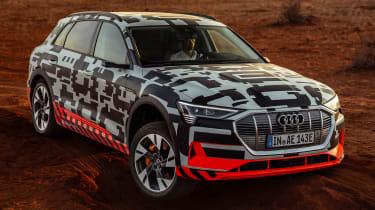 Audi e-tron Prototype review - front wheel cocked