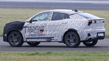 Lynk & Co Coupe-SUV spied - 3/4 tracking
