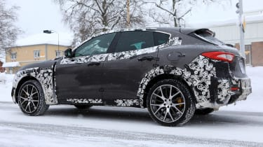 Maserati Levante GTS spy shot - side/rear