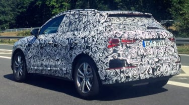 2018 Audi Q3 spy shot rear quarter