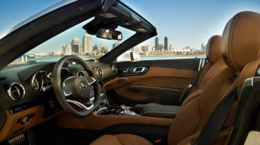 Mercedes SL400 - front seats