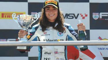Jamie Chadwick - podium