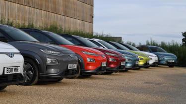Hyundai Kona electric rally group
