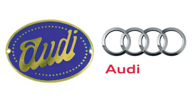 Audi badges old and new
