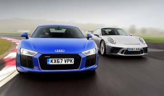 Audi R8 RWS vs Porsche 911 GT3 - header