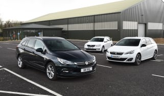 Vauxhall Astra ST vs Skoda Octavia Estate vs Peugeot 308 SW - header