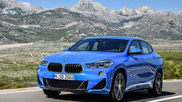 BMW X2 leak front quarter dynamic