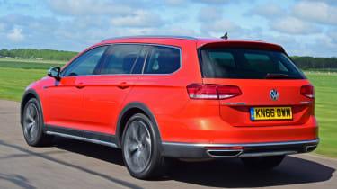 Volkswagen Passat Alltrack - orange rear quarter