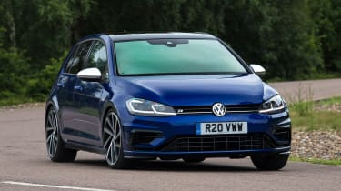 Volkswagen Golf R Performance Pack - front cornering