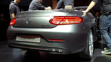 Mercedes C-Class Cabriolet - rear silver show