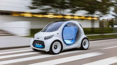 Smart Vision EQ ForFour concept - front action