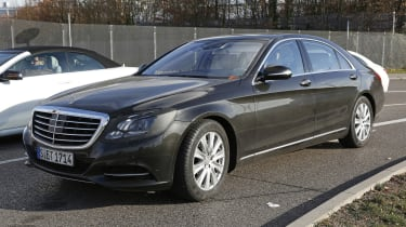 Mercedes S-Class facelift front side