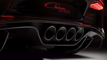 Bugatti Chiron-Sport four exhausts