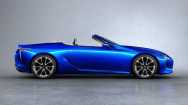Lexus LC Convertible - side blue