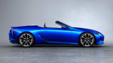 Lexus LC Convertible - side blue
