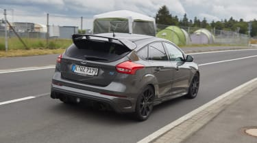Ford Focus RS500 mule rear 3/4
