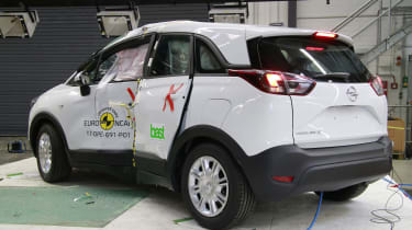 Vauxhall Crossland X - Pole crash test - after crash