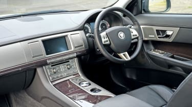 Beautiful detailing, clever design and wonderful finish mark out XF interior