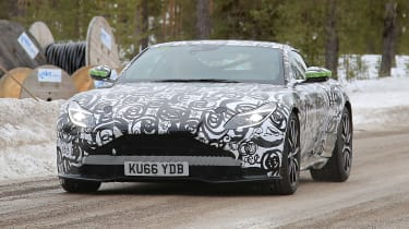 Aston Martin V8 Vantage mule front