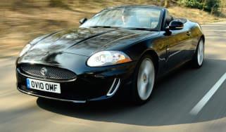Jaguar XK Convertible front tracking