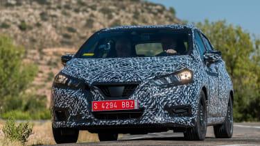 Nissan Micra 2017 - prototype front cornering 2