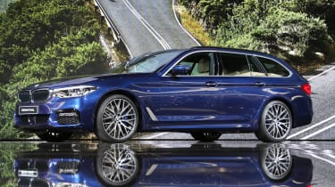New BMW 5 Series Touring - Geneva front quarter 2