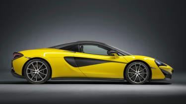 McLaren 570S Spider - side roof closed