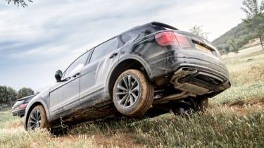 Bentley Bentayga prototype first drive - rear off-road