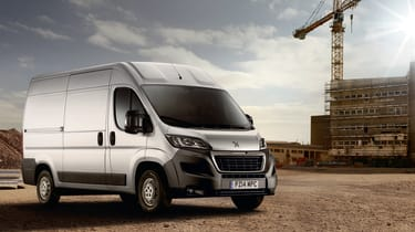 Peugeot Boxer - front view background