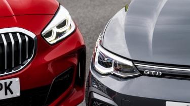 VW Golf GTD vs BMW 120d - headlights