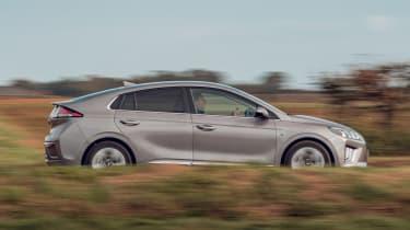 Hyundai Ioniq hybrid side driving