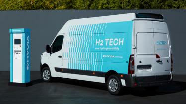 Hydrogen-powered Renault Master Van - rear