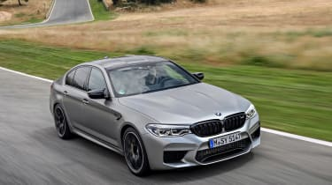 BMW M5 Competition - front above