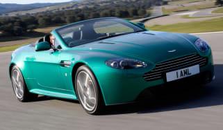 Aston Martin V8 Vantage S roadster convertible front tracking