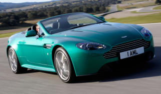 Aston Martin V8 Vantage S roadster convertible front tracking