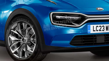 Kia coupe-SUV - front detail (watermarked)
