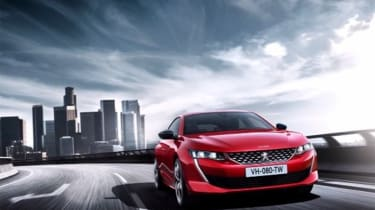 Peugeot 508 leaked - front action