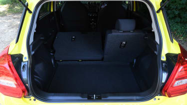 Suzuki Swift Sport long-term test - seats down