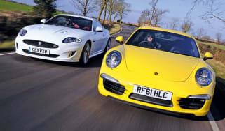 New Porsche 911 vs Jaguar XKR