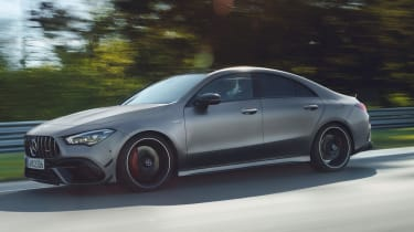 Mercedes-AMG CLA 45 - side tracking