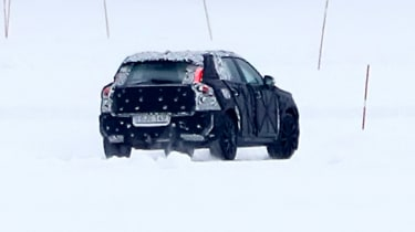 Volvo XC40 spy shot rear quarter