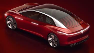 Volkswagen I.D Vizzion - studio red back
