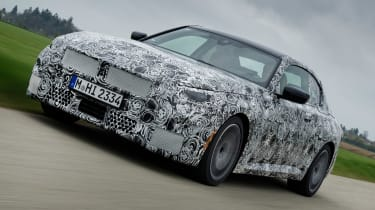 BMW 2 Series Coupe prototype - front tracking