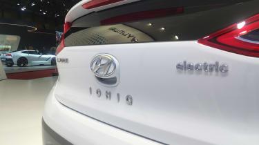 Hyundai Ioniq electric - Geneva - badge
